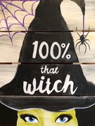 Wooden Sign Painting on 10/26 at Muse Paintbar White Plains