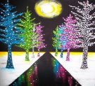 Canvas Painting Class on 12/22 at Muse Paintbar Gaithersburg