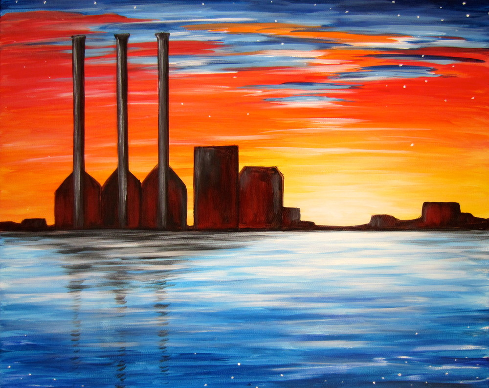 Providence Smokestacks- Muse Paintbar