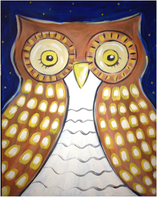 The Owl- Muse Paintbar