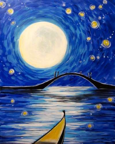 Full Moon Gondola- Muse Paintbar