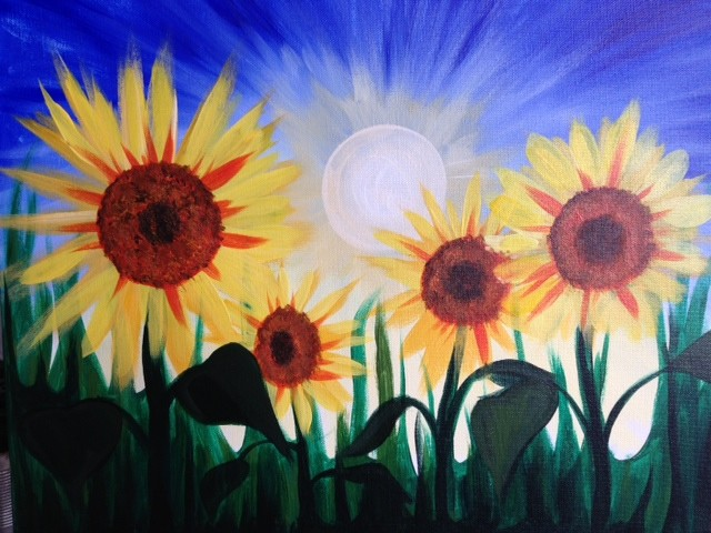 Summer Sunflowers- Muse Paintbar
