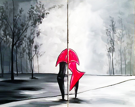 Umbrella Embrace- Muse Paintbar