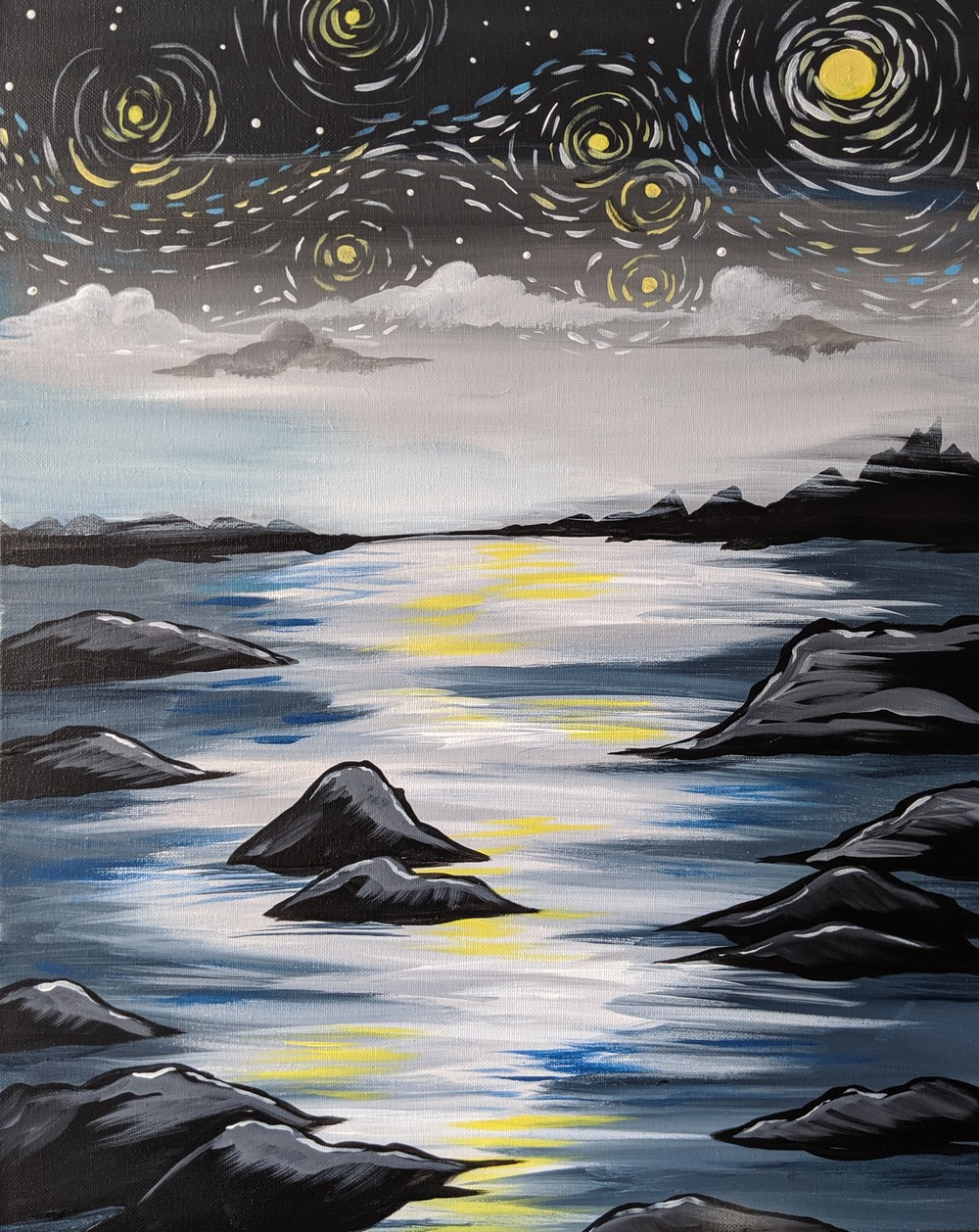 Starry Cove- Muse Paintbar