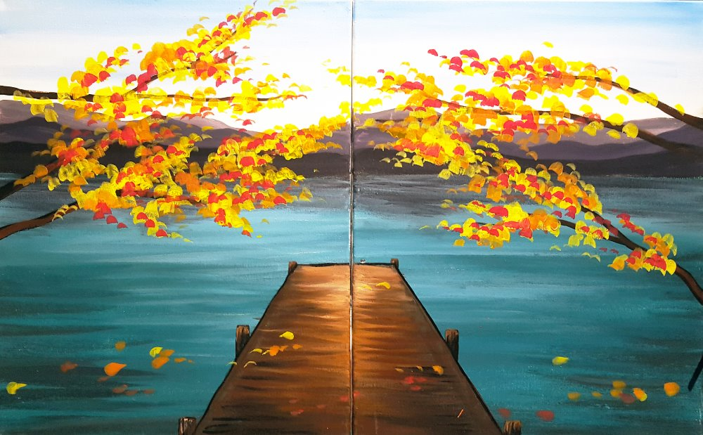 Autumn Dock - Muse Paintbar