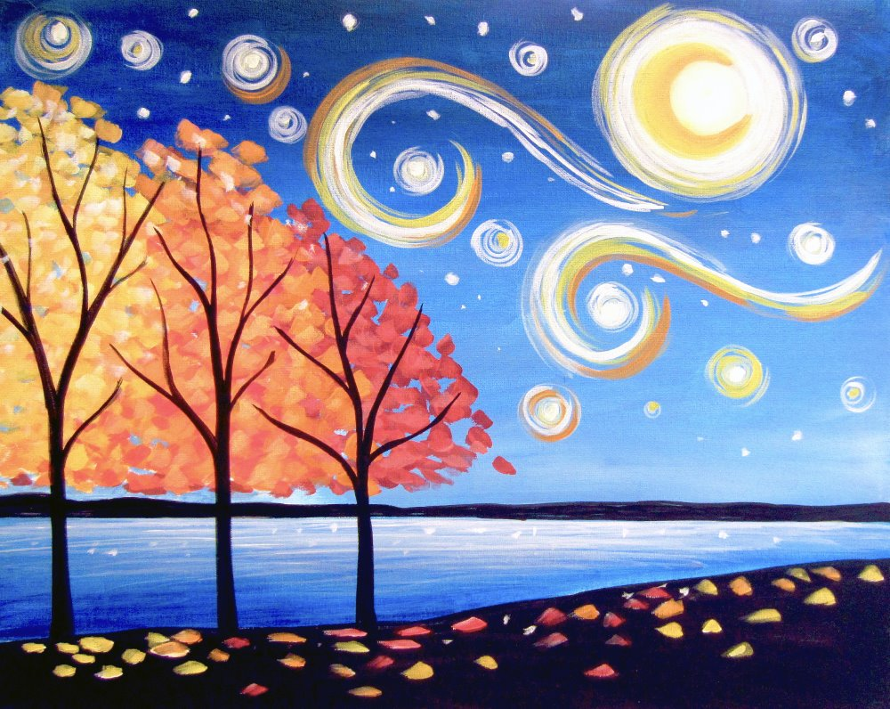 Autumn in the Park- Muse Paintbar