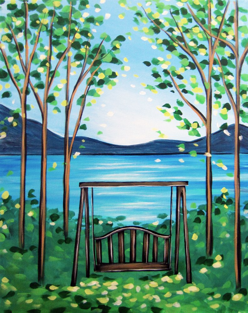 Bench with a View- Muse Paintbar
