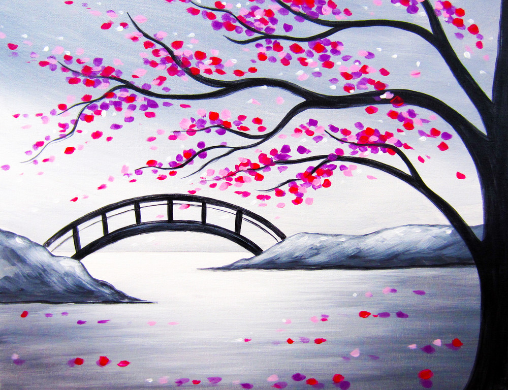 Blossoming Bridge- Muse Paintbar