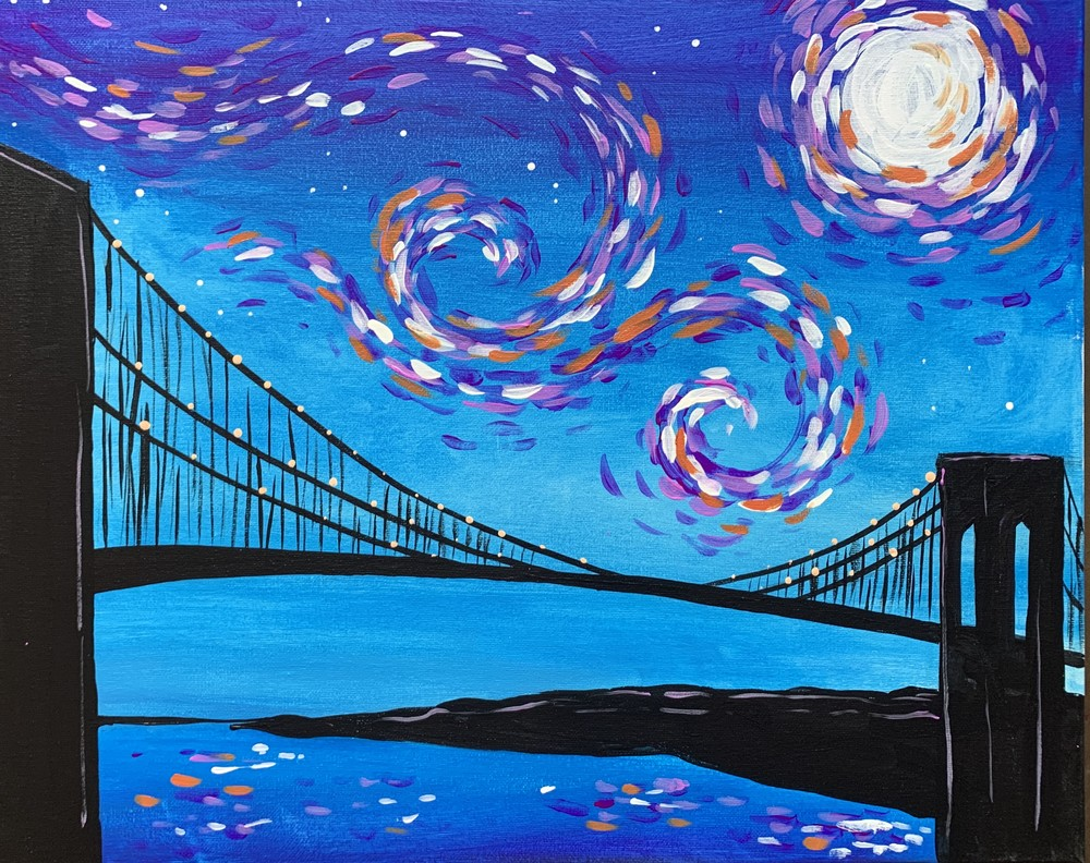 Starry Brooklyn Bridge- Muse Paintbar