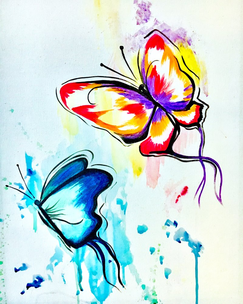 Butterfly Wishes- Muse Paintbar