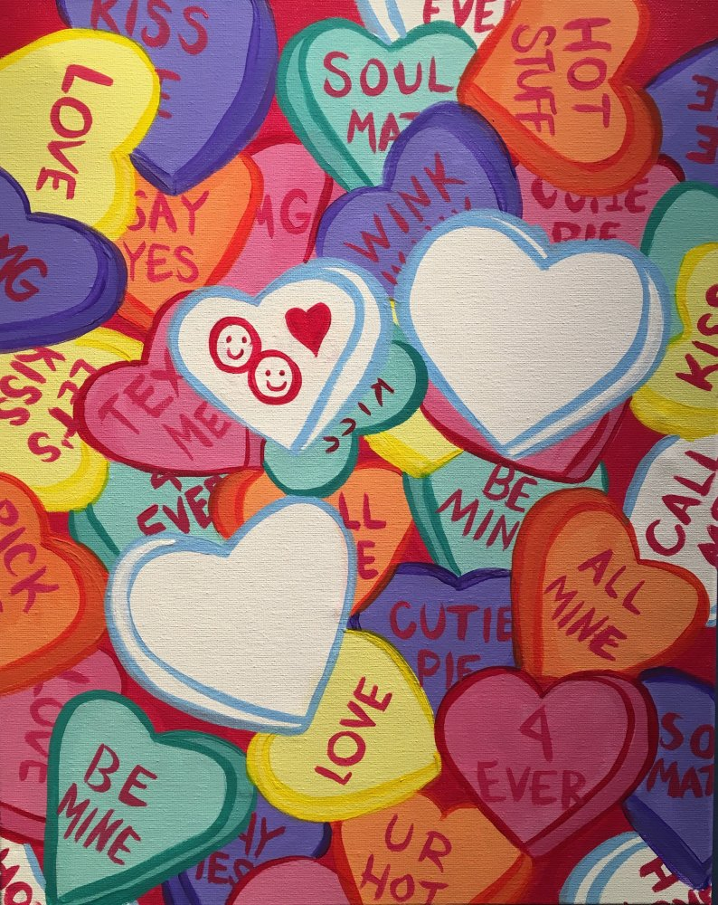 Candy Hearts- Muse Paintbar