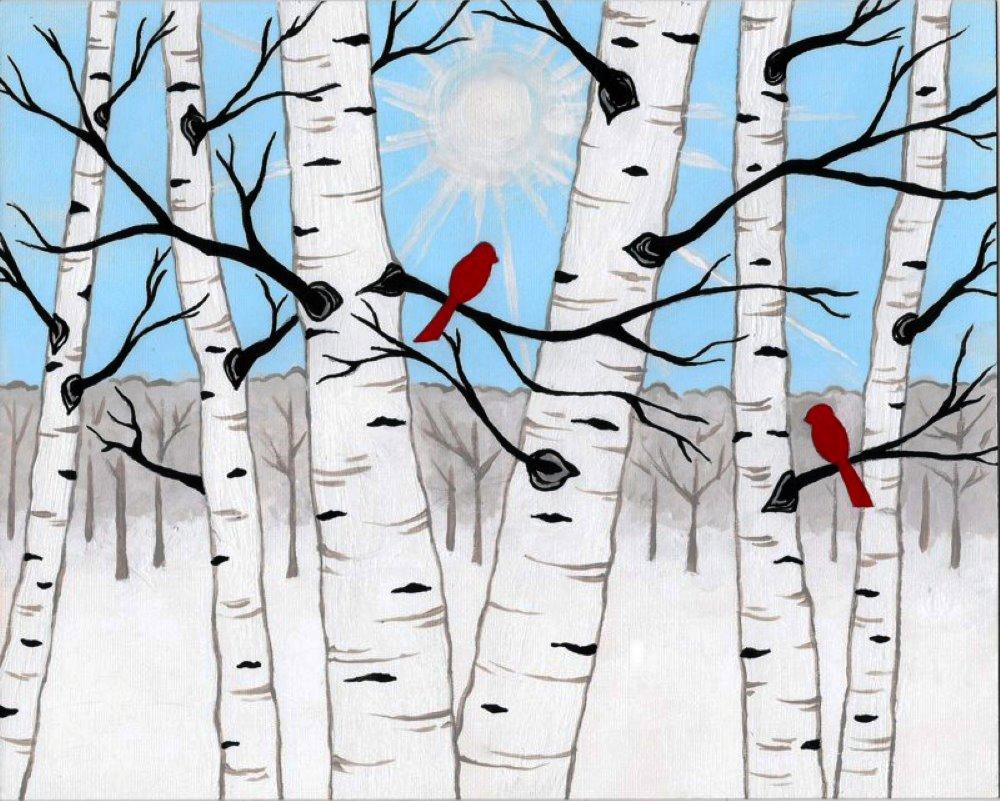 Cardinal Pair- Muse Paintbar