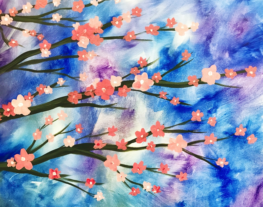 Cherry Blossoms at Dawn- Muse Paintbar