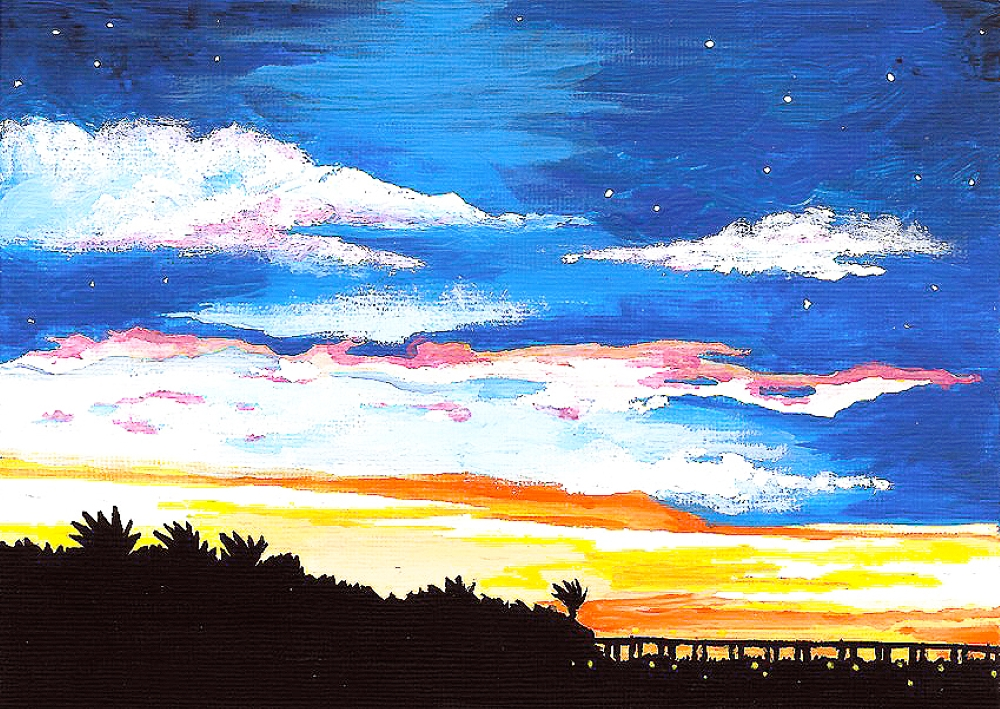 Colorful Causeway Sky- Muse Paintbar