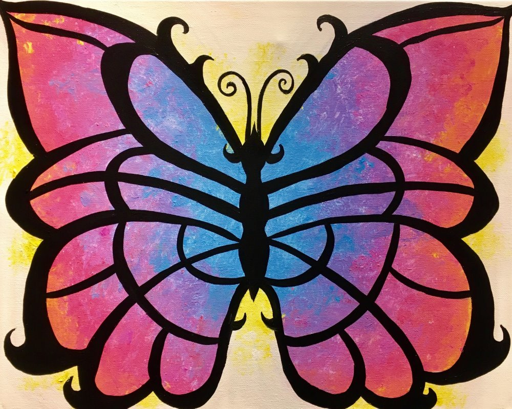 Cotton Candy Butterfly - Muse Paintbar