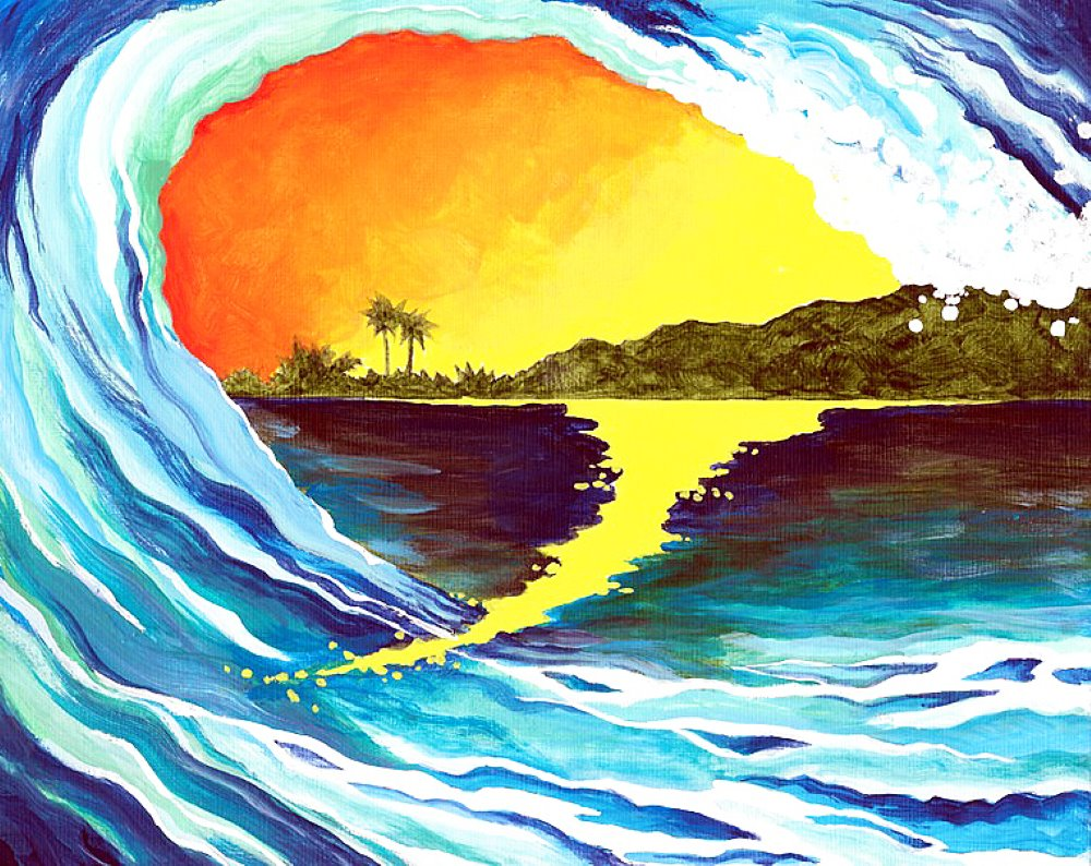 Crashing Wave- Muse Paintbar