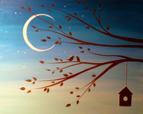Crescent Birdhouse- Muse Paintbar