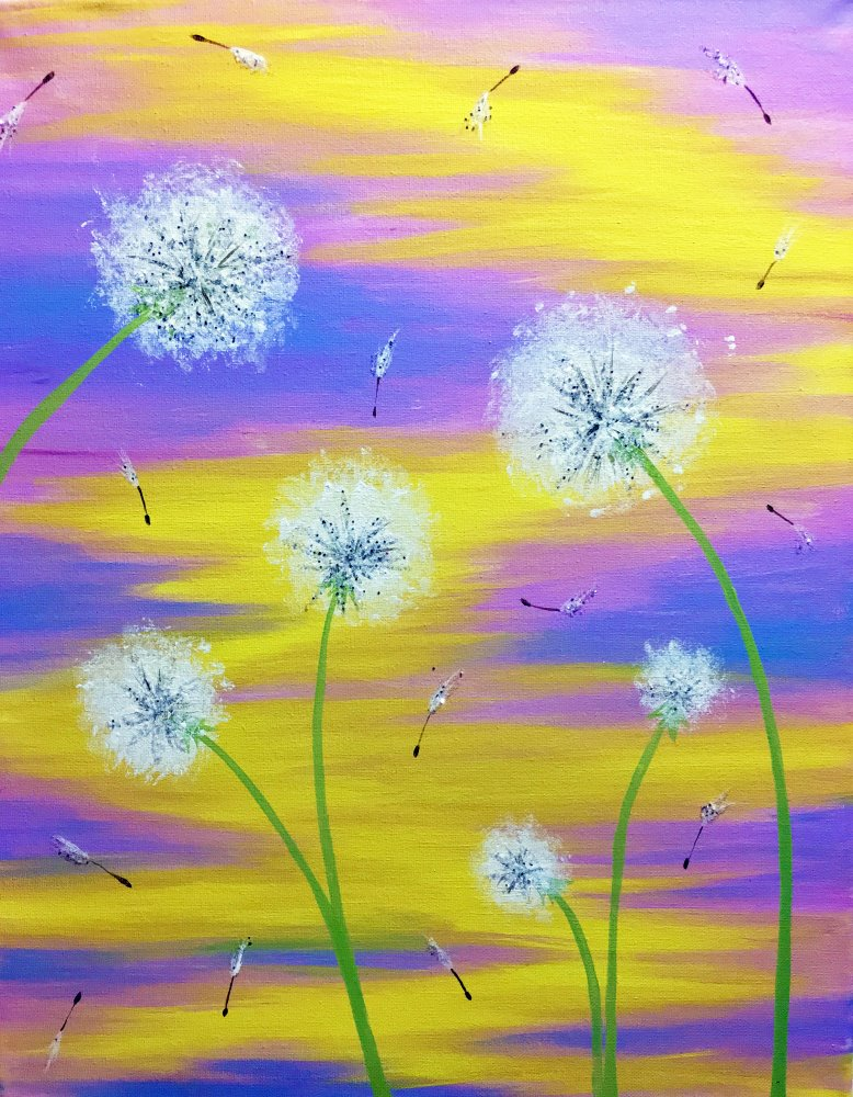 Dandelion Wishes- Muse Paintbar