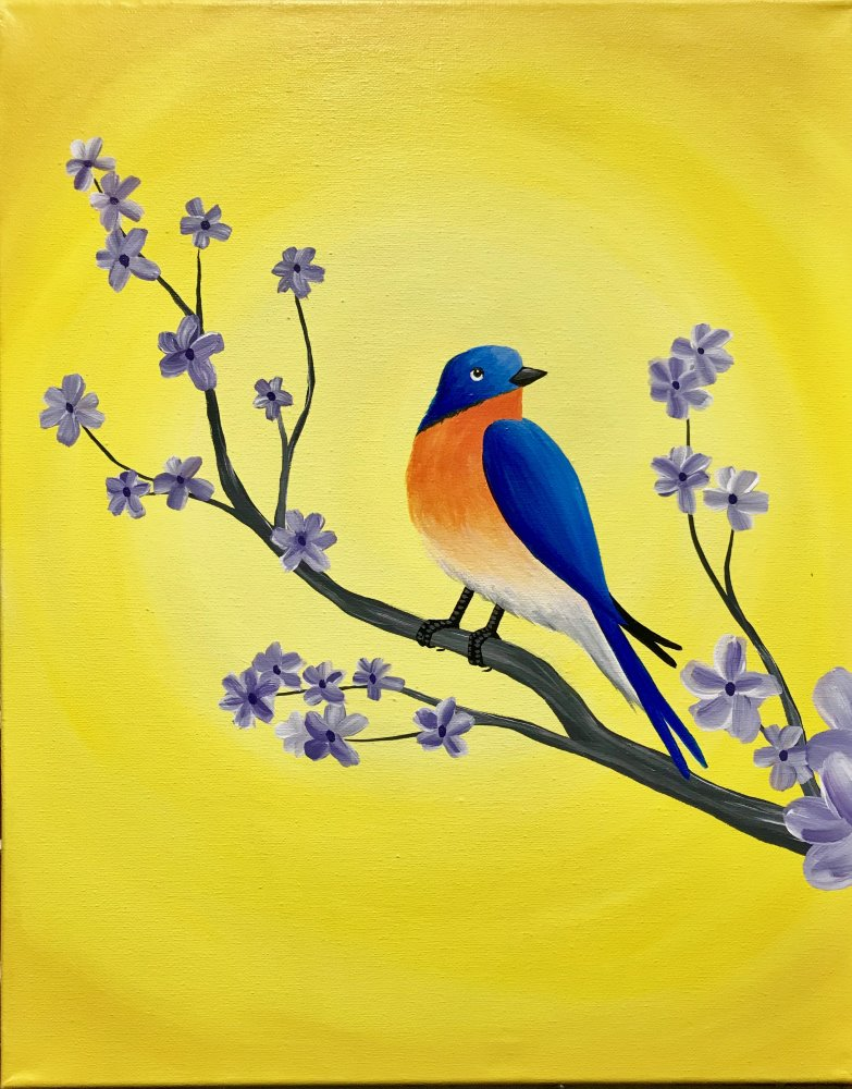 Endearing Bluebird- Muse Paintbar