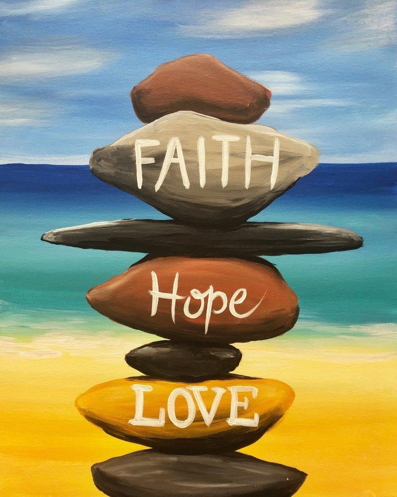 Faith, Hope, Love- Muse Paintbar