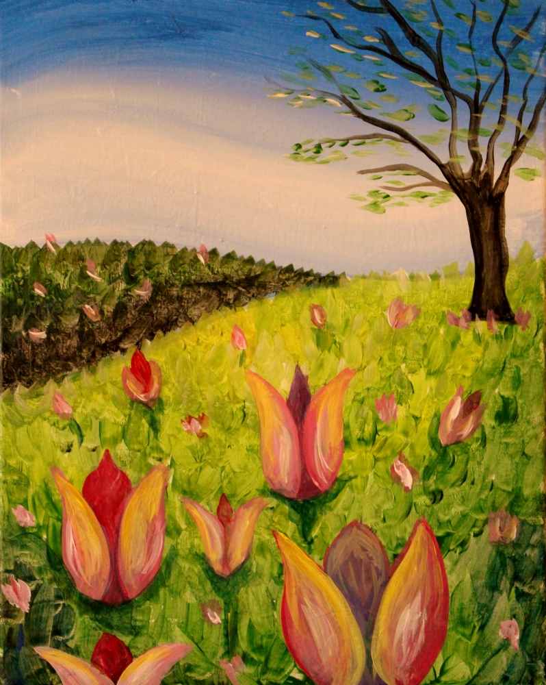Field of Tulips- Muse Paintbar