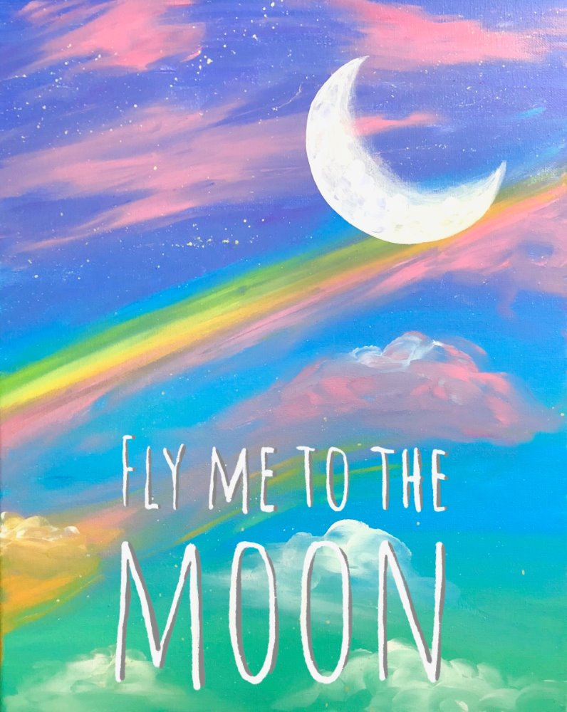 Fly Me To The Moon - Muse Paintbar