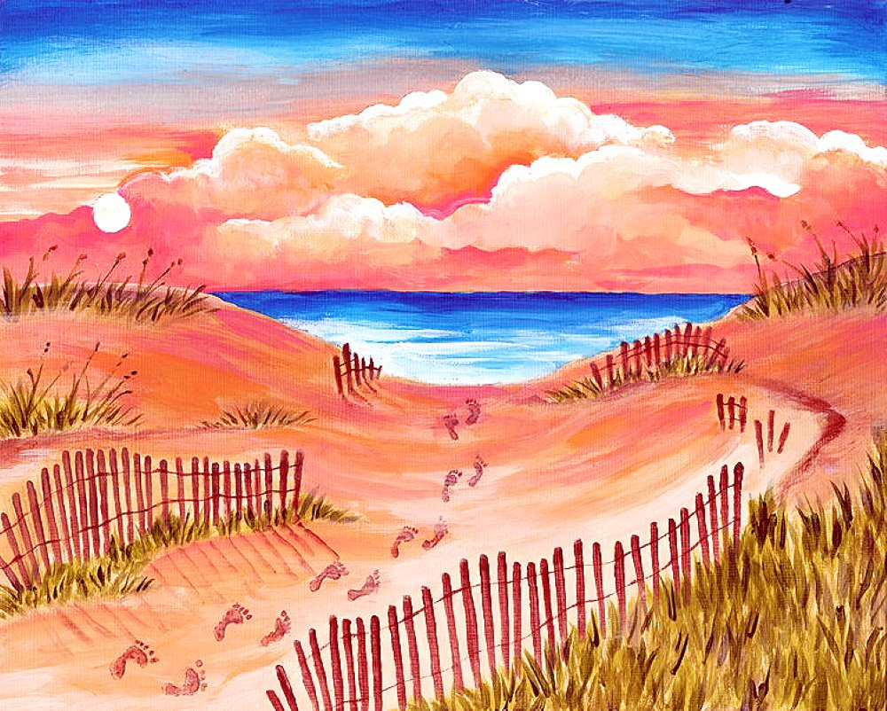 Follow Me to the Beach- Muse Paintbar