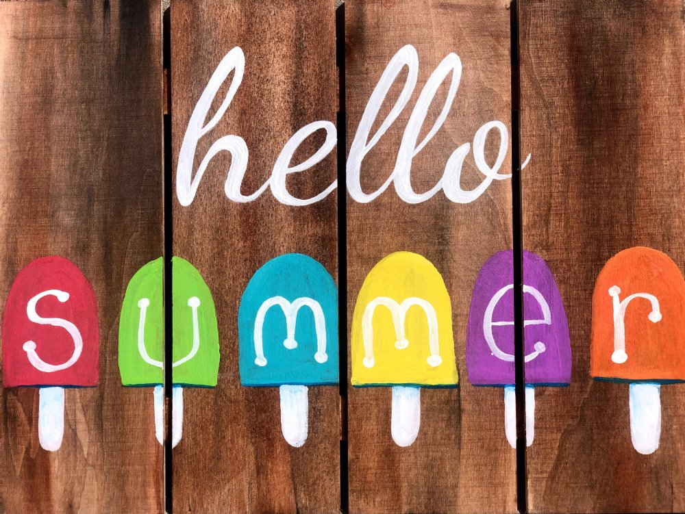 Hello Summer Sign- Muse Paintbar