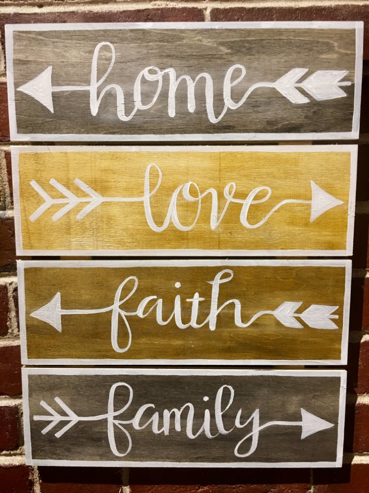 Home, Love, Family, Faith- Muse Paintbar