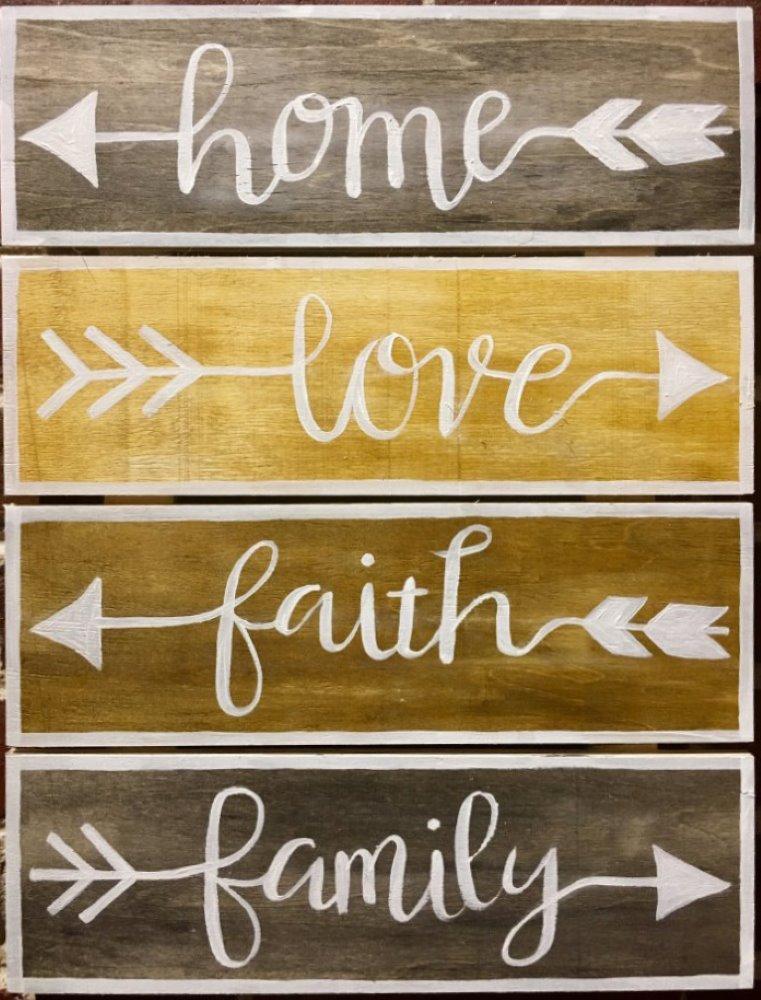 Home, Love, Faith, Family- Muse Paintbar