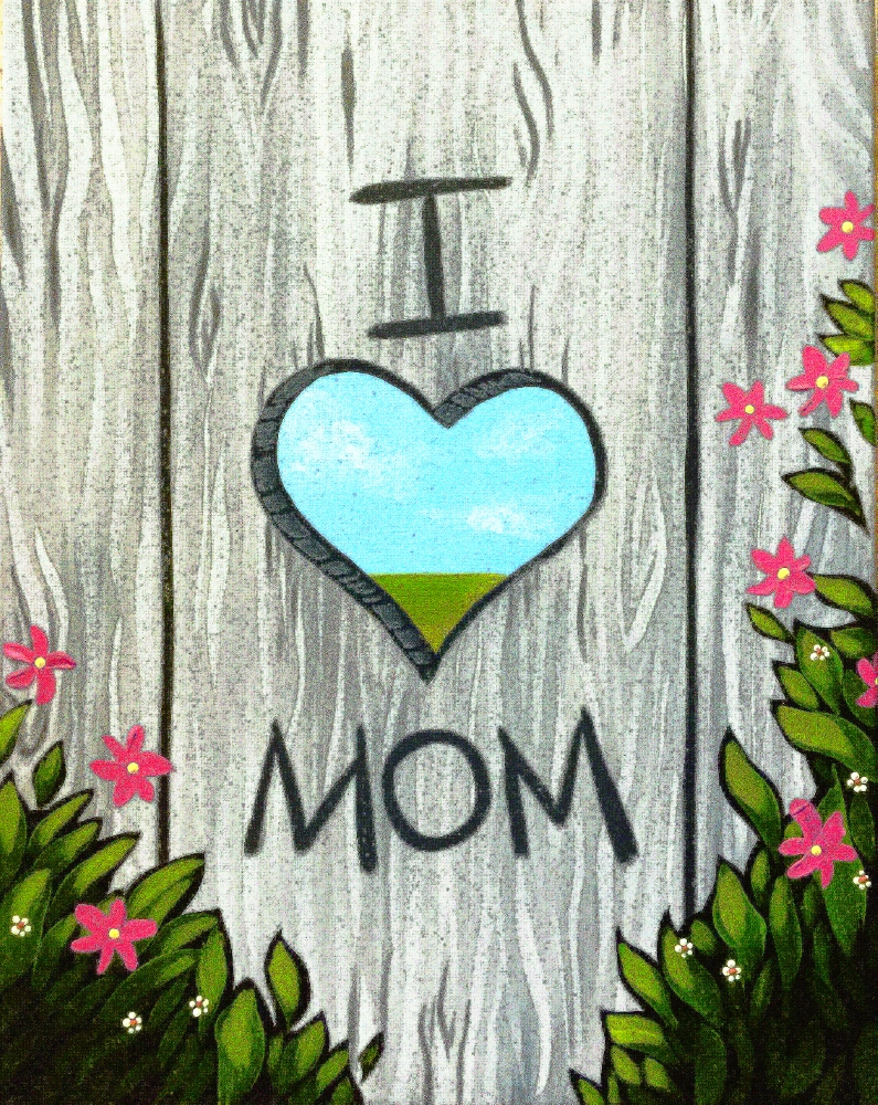 I Heart Mom- Muse Paintbar