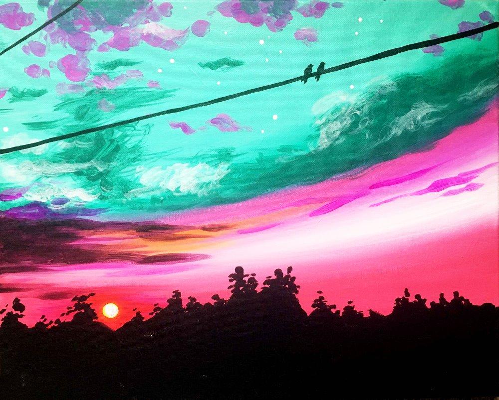 Jeweled Sunset- Muse Paintbar