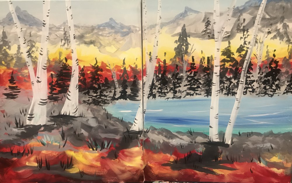 Lakeside Birches - Muse Paintbar