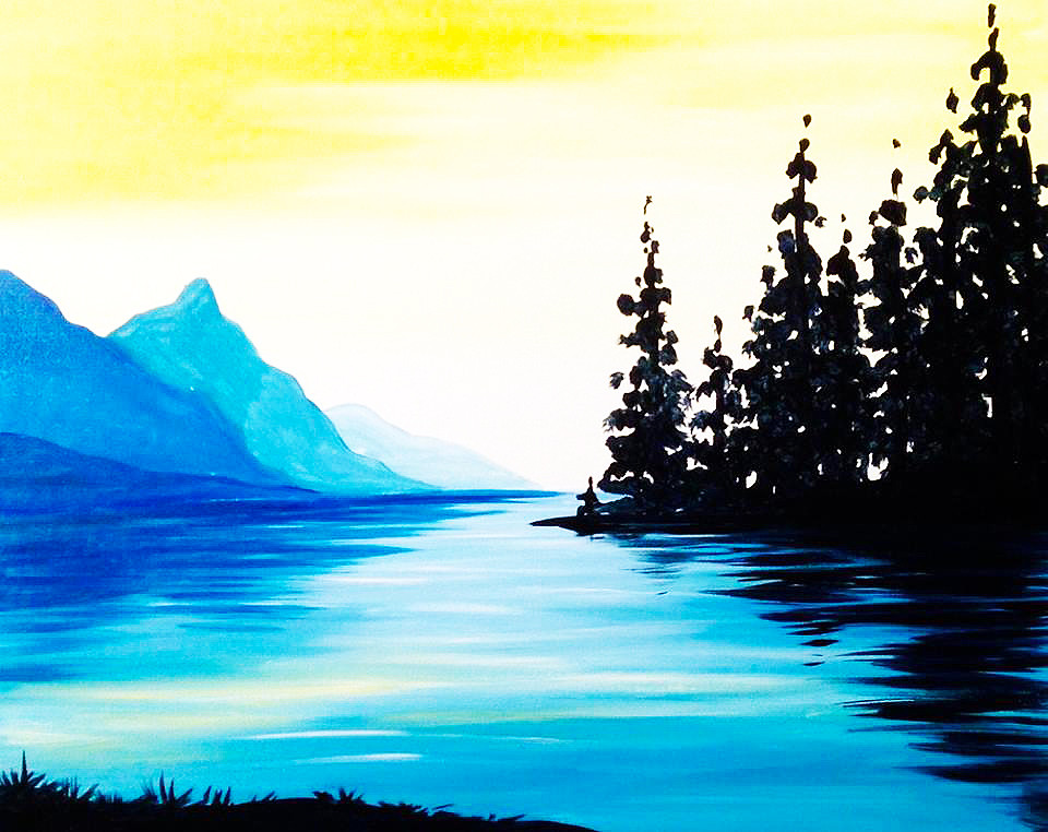Lakeside Serenity- Muse Paintbar