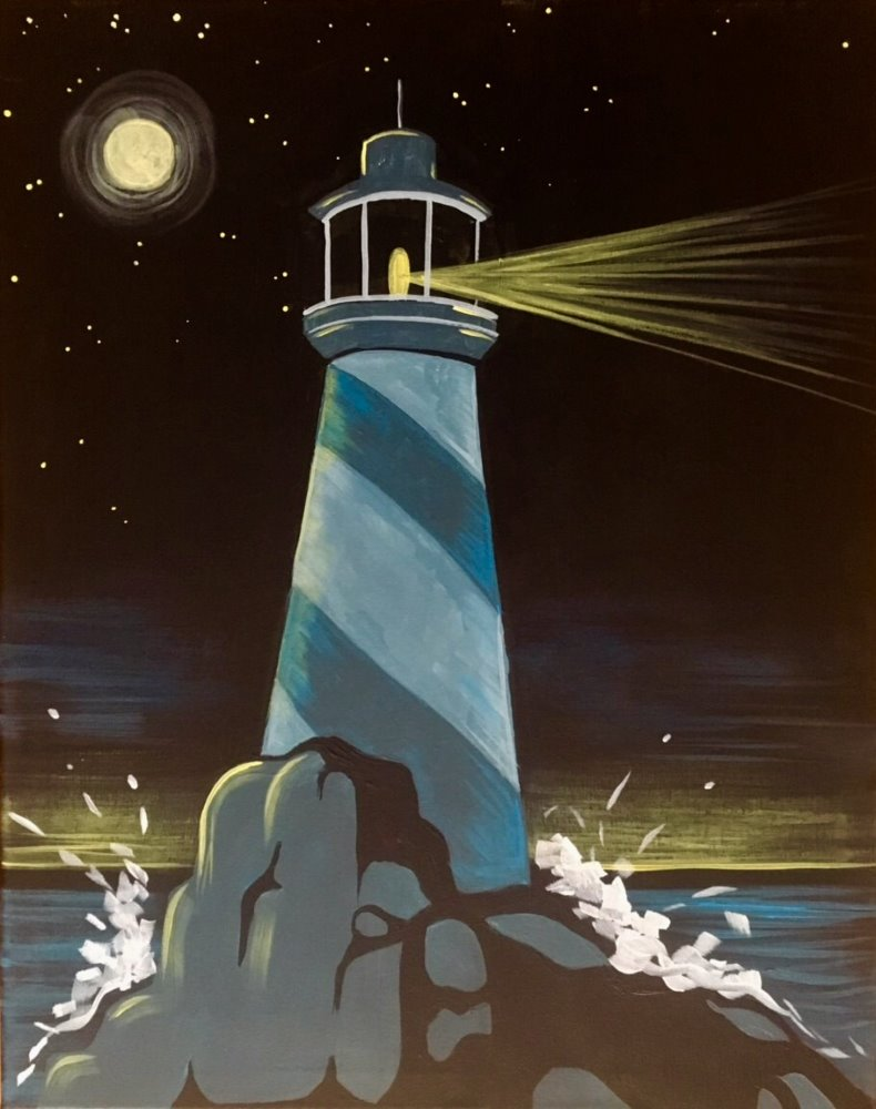 Lighthouse Illumination- Muse Paintbar