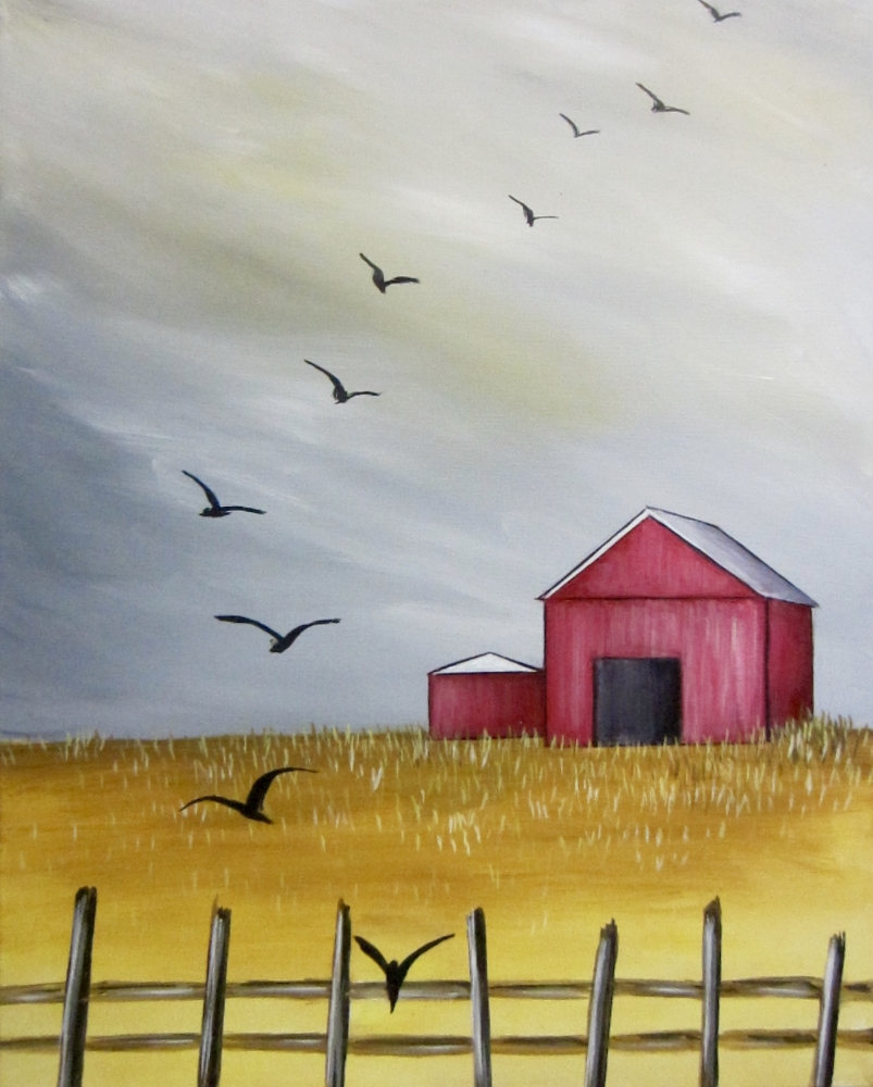 Little Red Barn- Muse Paintbar