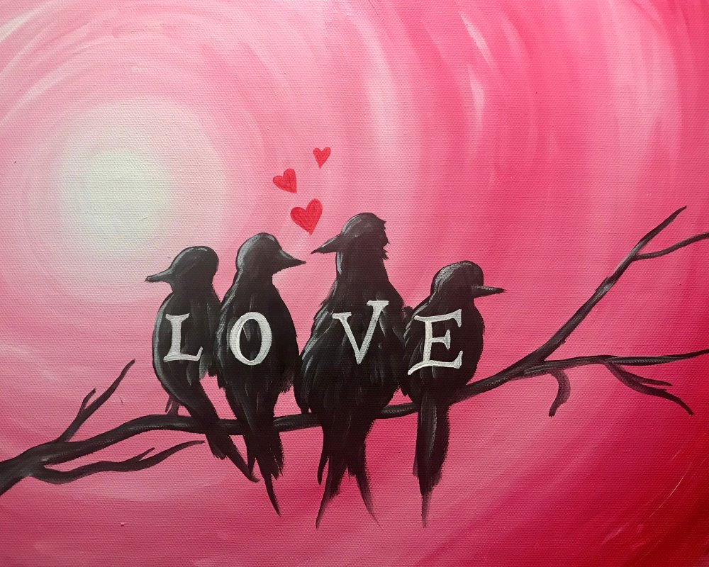 Love Birds- Muse Paintbar