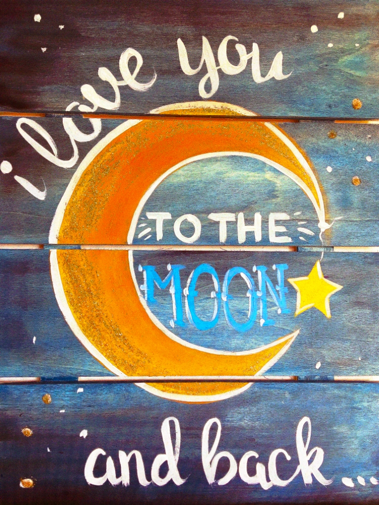 Love You to the Moon and Back- Muse Paintbar
