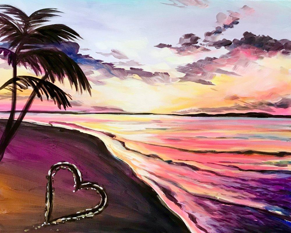 Love on the Beach - Muse Paintbar