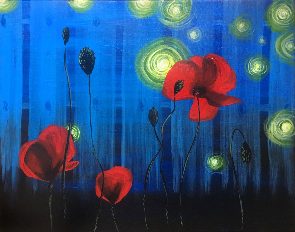 Luminous Poppies- Muse Paintbar