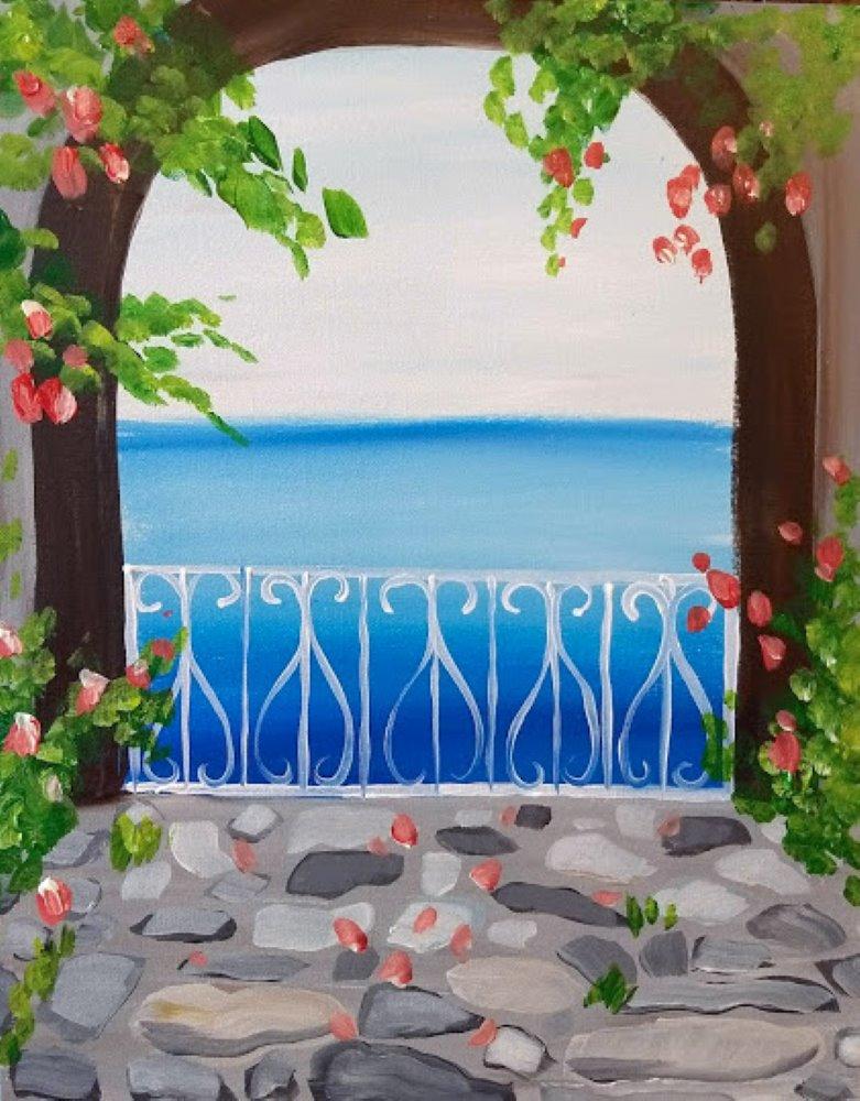 Mediterranean View- Muse Paintbar