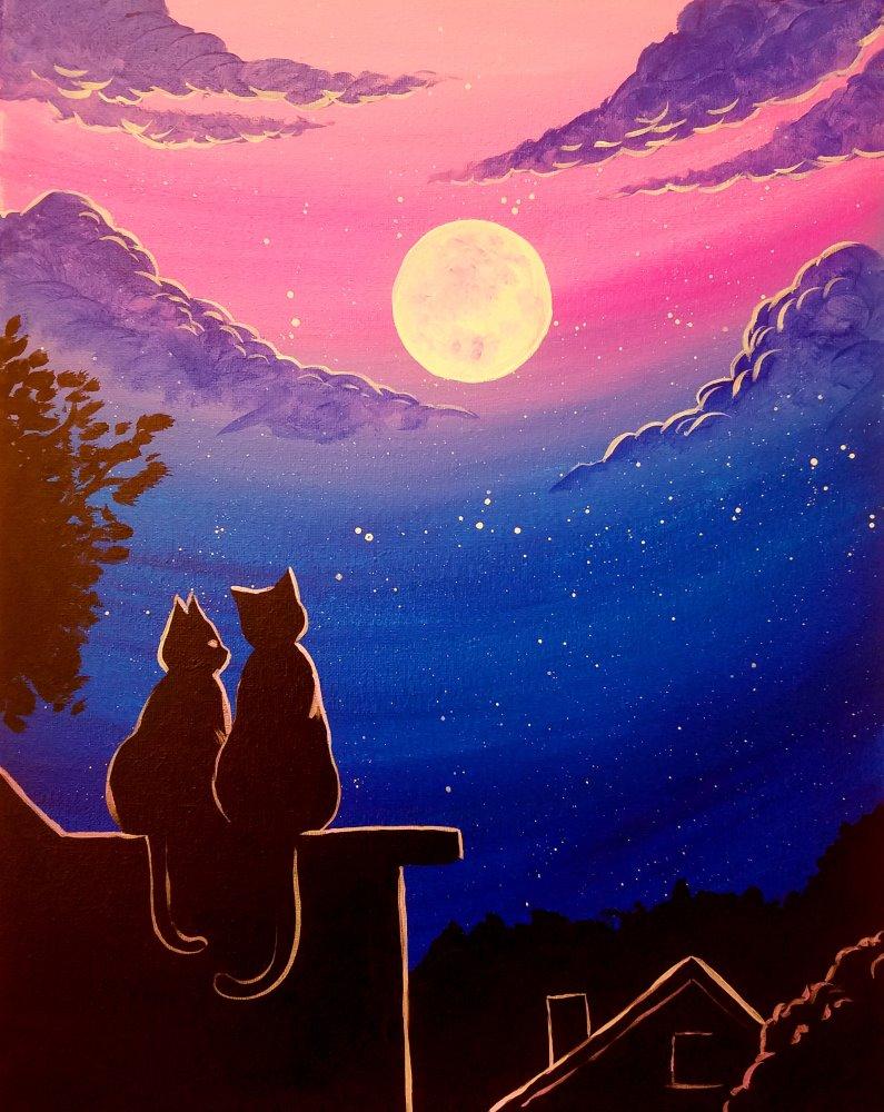 Midnight Meow- Muse Paintbar