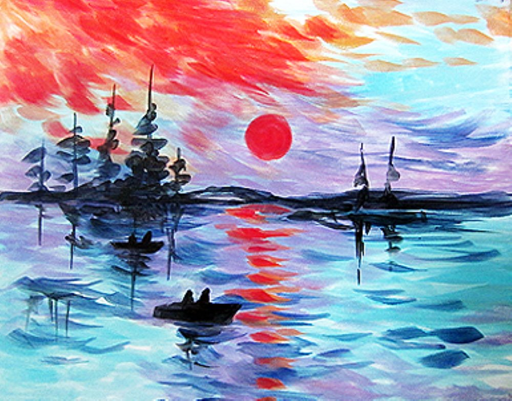 Monet's Sunrise- Muse Paintbar