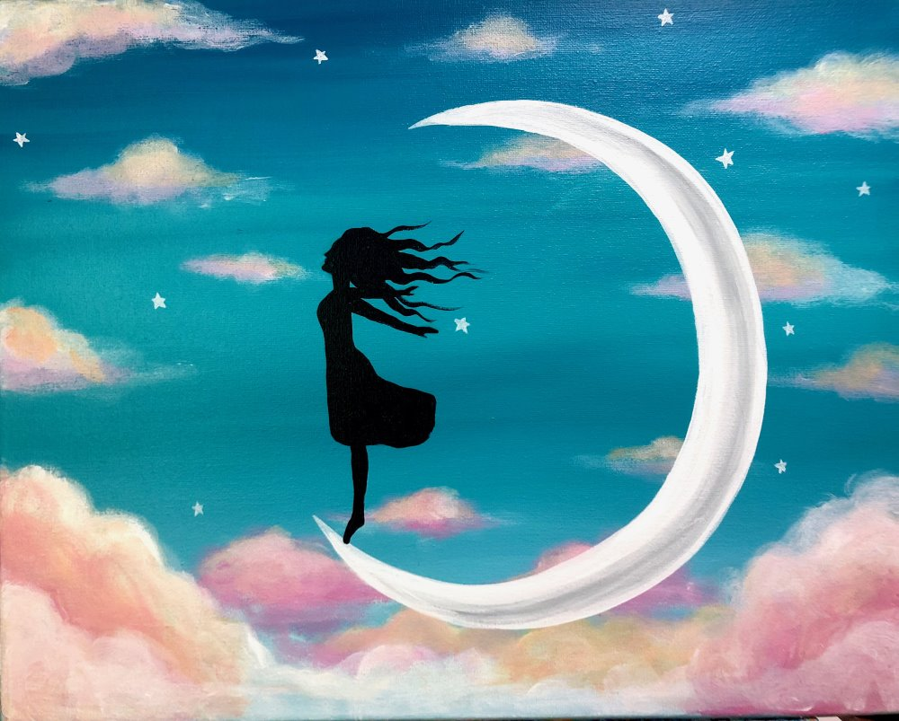 Moon Child- Muse Paintbar