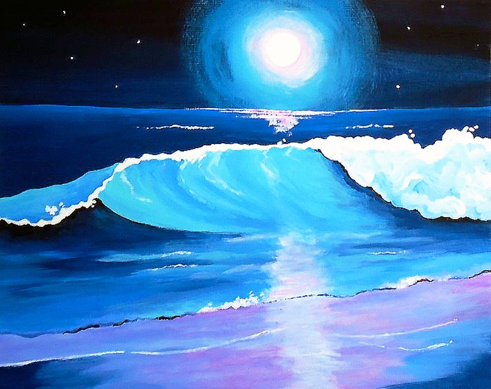 Moonlight Surf- Muse Paintbar