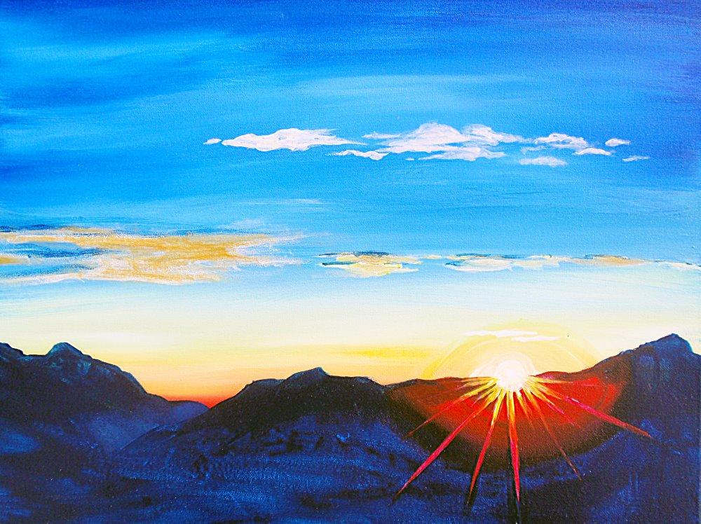 Mountain Sunrise- Muse Paintbar