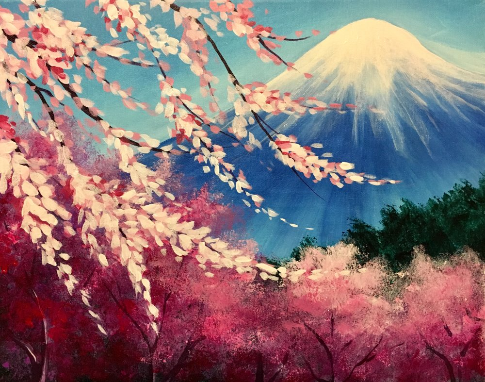 Mountainside Blossoms- Muse Paintbar