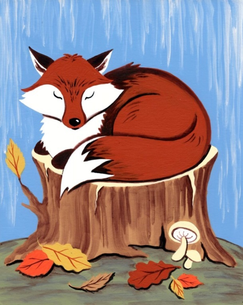 Napping Fox- Muse Paintbar