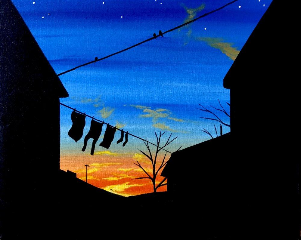 Neighborhood Twilight- Muse Paintbar