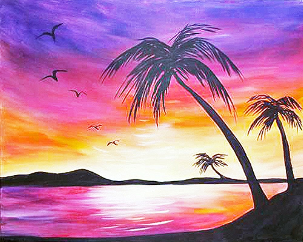 Paradise Palms- Muse Paintbar